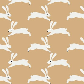 easter rabbit fabric - easter fabric, rabbit fabric, nursery fabric, baby fabric - yellow
