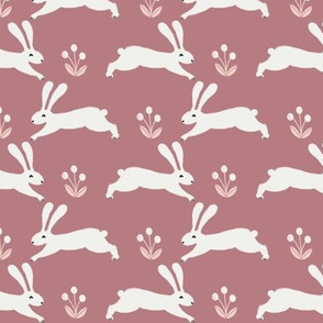 easter rabbit fabric - easter fabric, rabbit fabric, nursery fabric, baby fabric - clover