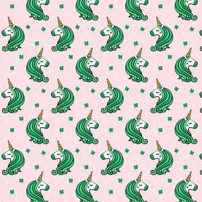 "(1"" scale) St Patricks Unicorn - st patty's day unicorns - pink - LAD20BS"