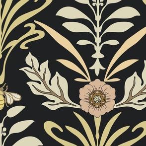 Art Nouveau - Jumbo - Honey Bee and Flower