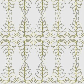 Olive Leaves on gray
