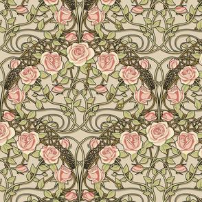 art nouveau roses