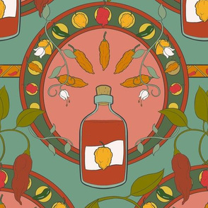 Art Nouveau Hot Sauce - Medium