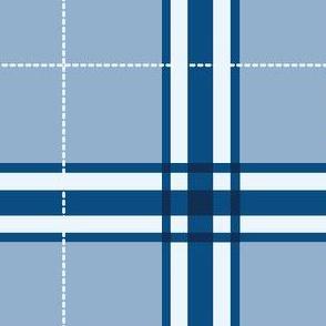classic blue plaid
