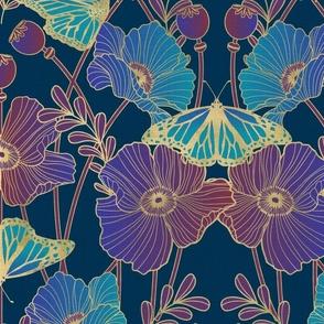 poppy art nouveau