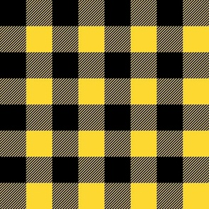 """(1"""" scale) Black and yellow plaid - LAD20"""