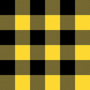 """(3"""" scale) Black and yellow plaid - LAD20"""