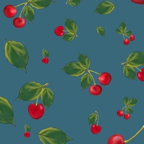 Cherries with leaves (medium)