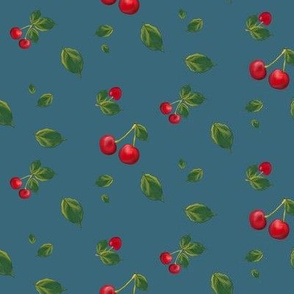 Cherries with leaves (small)
