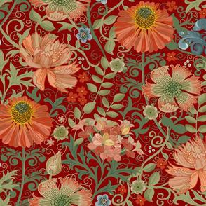 Le Jardin Art Nouveau red