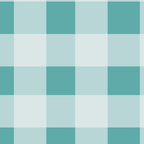 Buffalo Plaid in Ice Blue and Turquoise