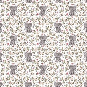 """2""""  Baby Elephant with Flowers/ NO CROWN  / Mix & Match"""