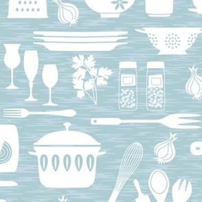 Kitchen Supplies Pale Blue small