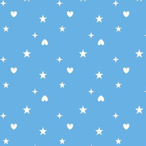 Heart and stars blue - Etoiles coeurs 20 bleu 68B1E5