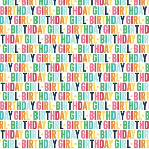 birthday girl XSM rainbow with navy UPPERcase