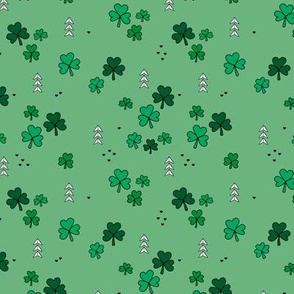 St Patrick's day little green shamrock lucky charm clover leaves green mint SMALL