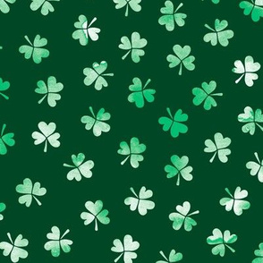 Watercolor clover garden St Patrick's Day shamrock lucky charm emerald green