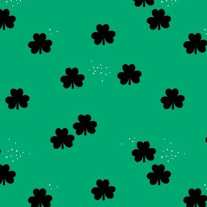 St Patrick's Day clover garden shamrock lucky charm green black minimal