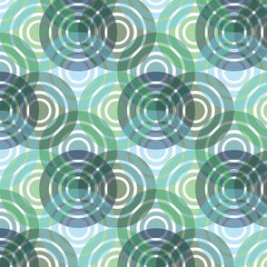 Circle Shadows green blue