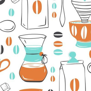 Coffee Break - Aqua Orange Large Scale