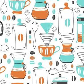 Coffee Break - Aqua Orange Regular Scale