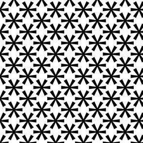 Asterisk white and black