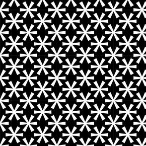 asterisk black and white