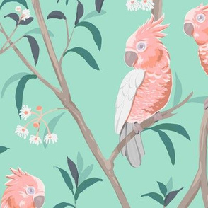 Vintage Kitsch Tropical Birds
