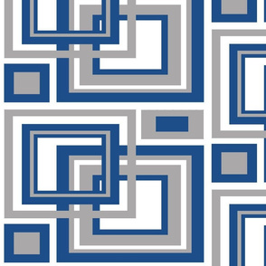 Classic Blue Gray Square Geometric