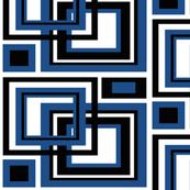 Classic Blue Black Geometric Square