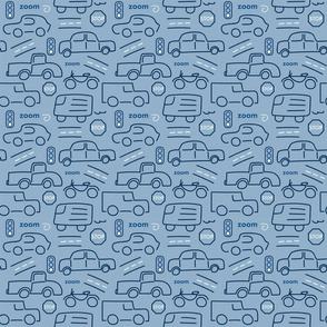 Cars and Trucks Blue - Small