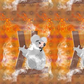 koala in the bush fire