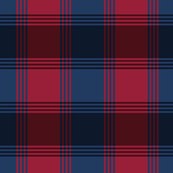 Navy Blue and Red Plaid