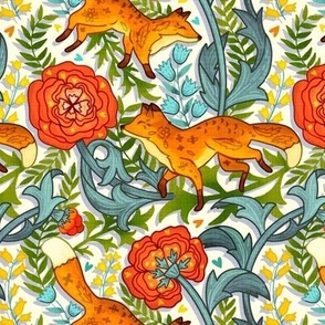Art Nouveau Foxes (Medium Size)