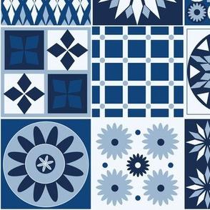 Tiling classic blue