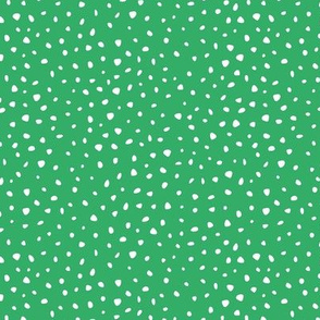 St Patrick's Day dots and cheetah animal print spots apple green neutral