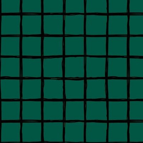 Minimal Dark green night grid geometric maze St Patrick's Day forest green