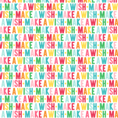 make a wish XSM rainbow UPPERcase