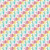 love XSM rainbow UPPERcase