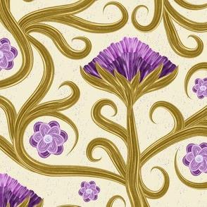 Purple golden flowers