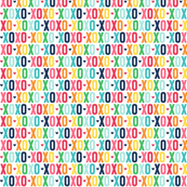 xoxo XSM rainbow with navy UPPERcase