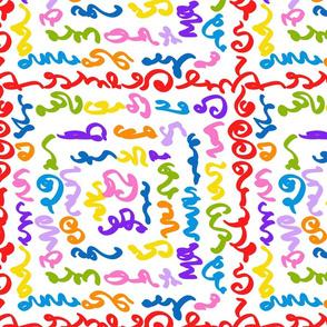 rainbow curve lines