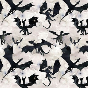 small Dragons - black/pearl