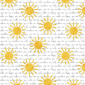 You are my Sunshine - yellow suns - yellow and grey coordinate - LAD20
