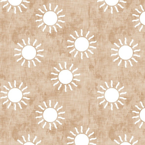Sunshine - Suns on dusty pink - dusty pink, green, gold coordinate - LAD20