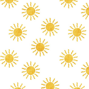 Sunshine - yellow suns - yellow and grey coordinate - LAD20