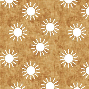 Sunshine - Suns on gold - dusty pink, green, gold coordinate - LAD20