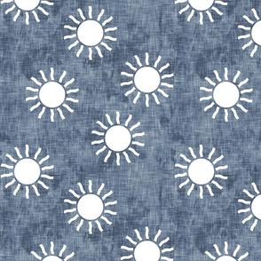 Sunshine - suns on dark blue - LAD20
