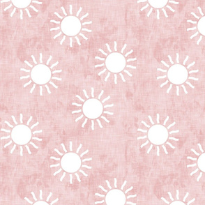 Sunshine - suns on pink - coordinate to pink and gold - LAD20