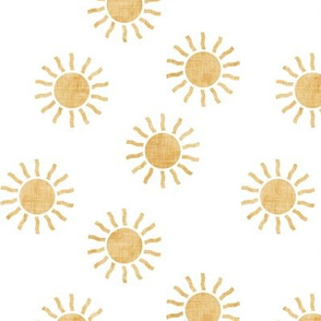 (small scale) Sunshine - sun - coordinate to pink and gold - LAD20